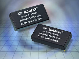 DC-DC Converters deliver 50 W of output power.