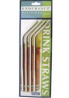 Stainless Steel Straws come in straight and curved designs.