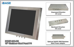 "IBASE Showcases a New 19"" Stainless Steel Panel PC INOSP-191-RE at Medica 2013"