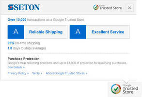 Seton.com Awarded Google Trusted Store Program Badge