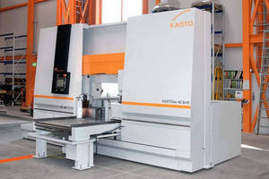 Heavy-Duty Bandsaw Cuts Tough Metals of Large Cross Section