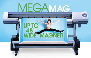 Wide Format Magnetic Flexible Sheeting minimizes seams in displays.