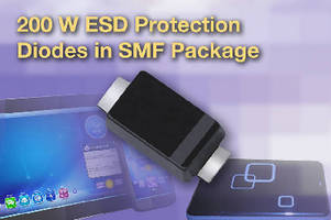 SMD ESD Protection Diodes offer surge capability of 200 W.