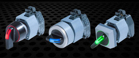 Ergonomic IP67 Selector Switch offers optional LED illumination.