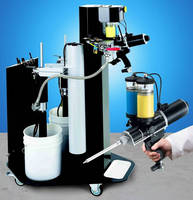Portable Adhesive Dispenser features mobile refill station.