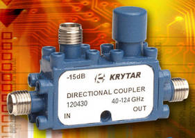 Directional Couplers offer 30 dB coupling over 2 frequency ranges.