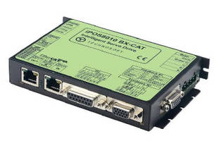 Intelligent Panel Mount Drive features EtherCAT interface.