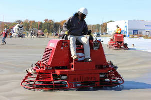 Riding Trowel offers rotor speeds up to 160 rpm.