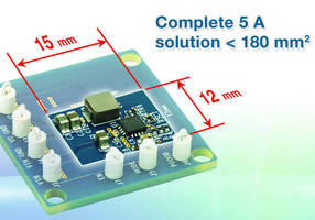 Synchronous Buck Regulator (5 A) offer efficiency to 95%.