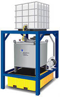 Chemical Storage/Transfer System is modular and stackable.