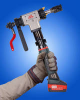 Welding End Prep Tool features battery-powered design.