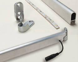 LED Lighting Kit unobtrusively illuminates closets.