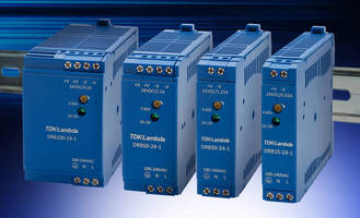 DIN Rail Mount Power Supplies come in compact packages.