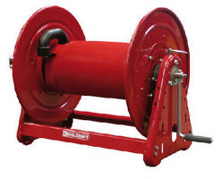 Heavy Duty Hose Reels feature hand crank design.