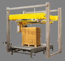 Rotary Ring Stretch Wrapper handles up to 40 loads per hour.