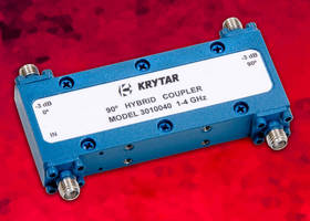 Compact, 90° Hybrid Microwave Coupler covers 1.0-4.0 GHz range.