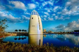 Kameleon Color Paint Creates Color-Changing, Iridescent Exterior for Exploration Tower at Port Canaveral