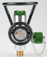 Oxygen Valve integrates pressure regulator.