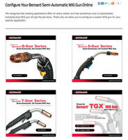 Online Configurators Allow Customization of MIG Guns for Specific Industrial Applications