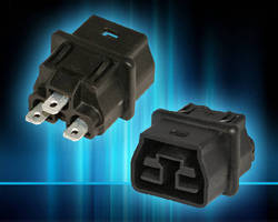 Ultra Short Receptacle supports 400 Vdc, 20 A loads.