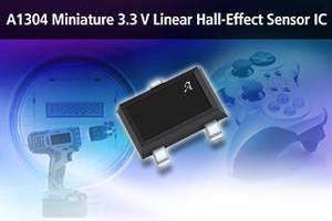 Linear 3.3 V Hall-Effect Sensor IC comes in miniature package.