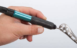 Air-Powered Pencil Grinder features variable speed design.