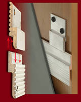 Aluminum Panel Clips facilitate flush mounting of objects.