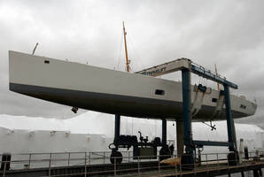 Orams Marine Services Purchases New Marine Travelift 75 BFMII Mobile Boat Hoist