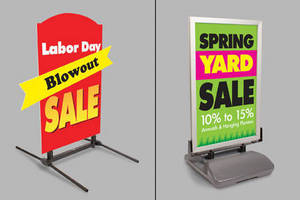 Sign Stands help drive customer traffic and highlight promotions.