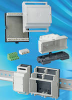 DIN Rail Enclosures come in 6 sizes to accommodate 2-12 modules.