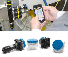 Wireless Monitoring Sensors work with iOS mobile app.