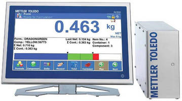 Weighing Terminal promotes formulation consistency via software.
