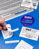 Product Identification Labels accept variable data.