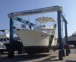 Florida-Based Pelican's Perch Marina and Boatyard Purchases New Marine Travelift 50 BFMII Mobile Boat Hoist