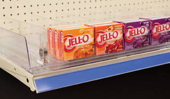 Clear, Self-Facing Shelf System promotes product visibility.