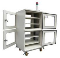 Pass-Through Drying Cabinet dehumidifies ICs.