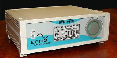 Ultrasonic Generator offers selectable range of 25-250 kHz.