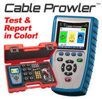 Cable Tester/Report Management System has full color display.