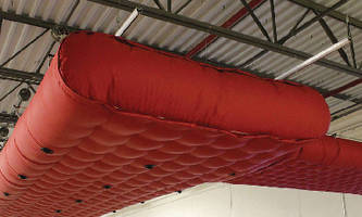 Fabric Duct provides low clearance HVAC ventilation.