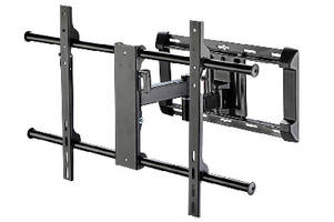 Articulating Wall Mount holds flat panels up to 150 lb.