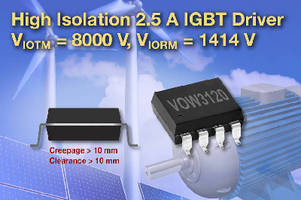IGBT/MOSFET Driver suits high working voltage applications.