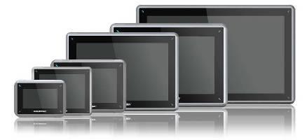 HMI Panels feature single-surface screen.