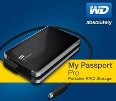Portable Dual Drive is powered via integrated Thunderbolt(TM) cable.