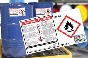 Chemical Drum Labels meet GHS regulations.