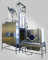 Automated Slurry Blast System provides 2-axis gun motion.