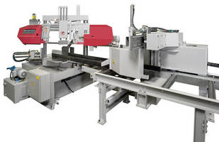Automatic Mitering Bandsaw offers PC-based remote control.