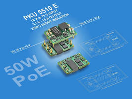Wide-Input DC/DC Converter targets telecom and PoE applications.