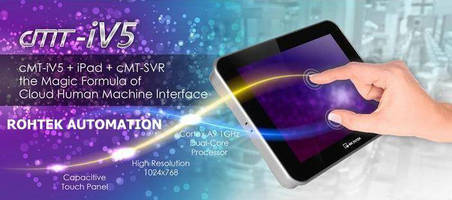 Multi-Touch Interface Panel connects to cMT-SVR HMI Tablet.