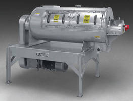 High-Intensity Continuous Blender has 30 x 72 in. dia chamber.