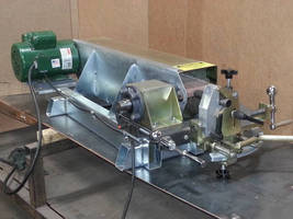 Abrasive Belt Coping Machine has compact footprint.
